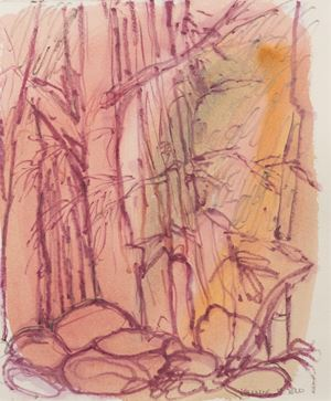 Hortus Conclusus by Kalliopi Lemos contemporary artwork painting, works on paper, drawing
