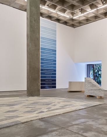 Exhibition view: Jorge Méndez Blake, Nos sentamos, escuchamos, discutimos(We Sit, We Listen, We Discuss), OMR, Mexico City (7 November 2020–14 February 2021). Courtesy OMR. Photo: Fernando Marroquin.