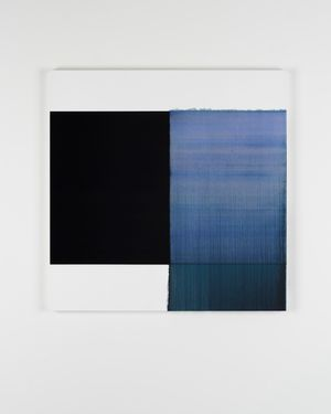 Exposed Painting Delft Blue / Violet Oxide by Callum Innes contemporary artwork
