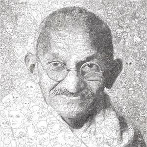 Hystorical Portraits – vol. 3 Mahatma Gandhi by Keita Sagaki contemporary artwork