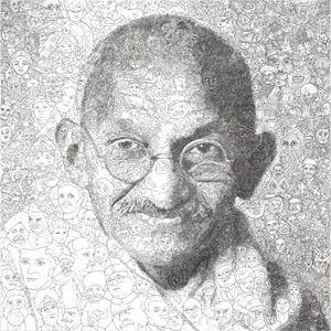 Hystorical Portraits – vol. 3 Mahatma Gandhi by Keita Sagaki contemporary artwork