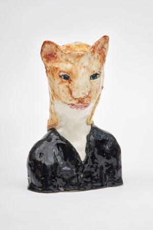 Cat girl by Klara Kristalova contemporary artwork sculpture