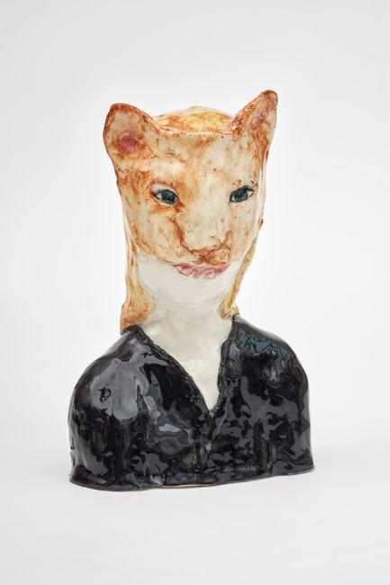 Cat girl by Klara Kristalova contemporary artwork