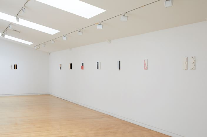 Exhibition view: John Nixon, Small Black + White, Two Rooms, Auckland(22 May–18 July 2019). Courtesy Two Rooms, Auckland.