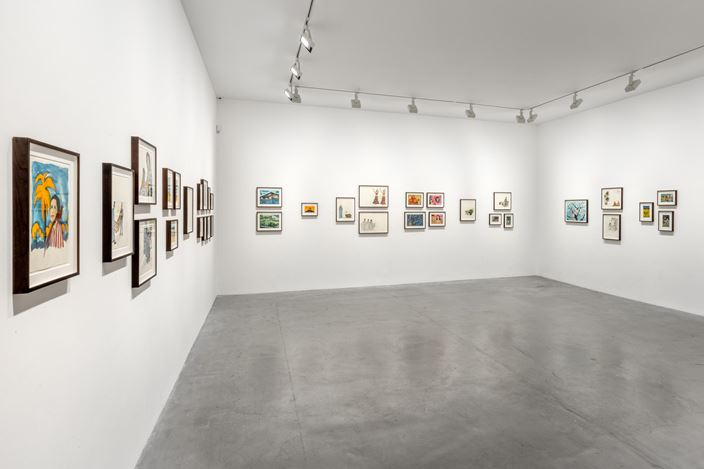 Exhibition view: Marcel Dzama, Blue Moon of Morocco, David Zwirner, Paris (2–25 July 2020). Courtesy David Zwirner.
