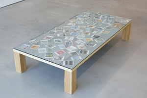 Untitled (Polaroid Table) by Dave Muller contemporary artwork