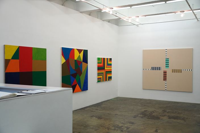 Exhibition view: Harriet Korman, Notes on Painting 1969 - 2019, Thomas Erben Gallery, New York (22 October–19 December 2020). Courtesy Thomas Erben Gallery.