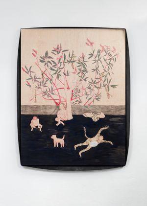Buddleia- Hostages and fruits by Gaia FUGAZZA contemporary artwork