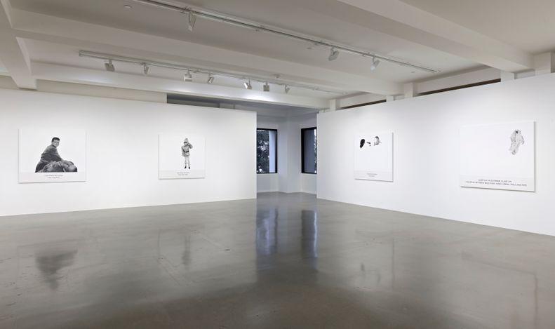 Exhibition view: John Baldessari, The Space Between, Sprüth Magers, Los Angeles (12 June–11 September 2021). All artworks © John Baldessari 2019.Courtesy Estate of John Baldessari © 2021.Photo: Robert Wedemeyer.