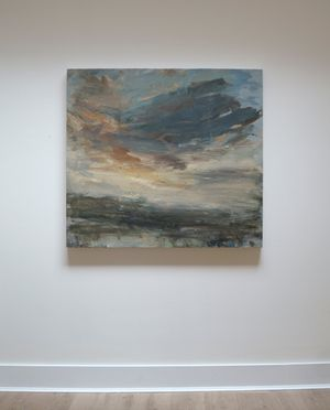 Sunset over the Field by Louise Balaam contemporary artwork painting, works on paper