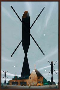 Die drei großen Mühlen by Titus Schade contemporary artwork painting
