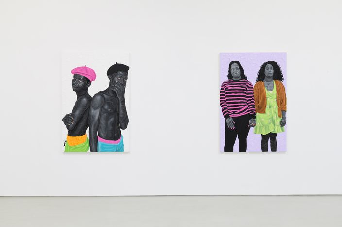 Exhibition view: Otis Kwame Kye Quaicoe, ONE BUT TWO (Haadzii), Roberts Projects, Los Angeles (5 June–2 July 2021). Courtesy Roberts Projects.