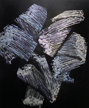 Abstract / Expression / Painting (Porcelain Stone and Moving Image) #6 by Kosuke Ikeda (池田 剛介) contemporary artwork painting, drawing