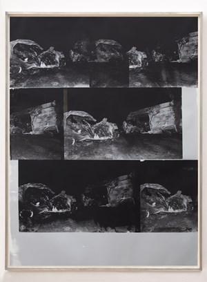 Dinosaur Transit Disaster Silver by Gavin Turk contemporary artwork