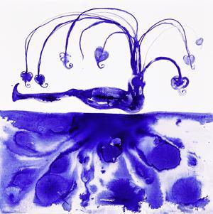 Corporeal Blue by Barthélémy Toguo contemporary artwork