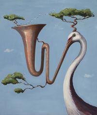 Song Worm by Joanna Braithwaite contemporary artwork painting