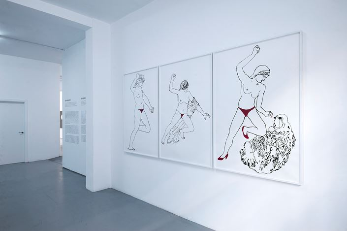 Exhibition view: Group show,Ver versus ver II, Sabrina Amrani Gallery, Sallaberry, 52, Madrid (14 October–4 November 2020). Courtesy Sabrina Amrani Gallery.