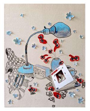 Cover of Artforum by Gretchen Andrew contemporary artwork