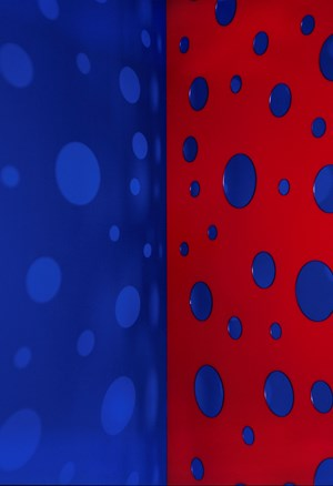 Light Throw (Mirrors) Fold - Blue-purple and Red-Blue by Jacky Redgate contemporary artwork