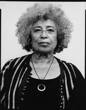 Angela Davis, civil rights movement activist, philosopher by Oliver Abraham contemporary artwork