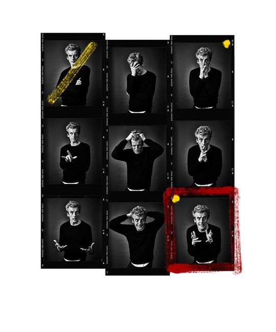 Peter Capaldi Contact Sheet by Andy Gotts contemporary artwork