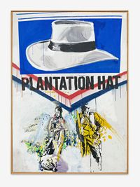 Plantation Hat (I can be anything you want me to be) by Christof Kohlhöfer contemporary artwork painting