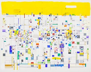Self-organizing with yellow by Bart Stolle contemporary artwork