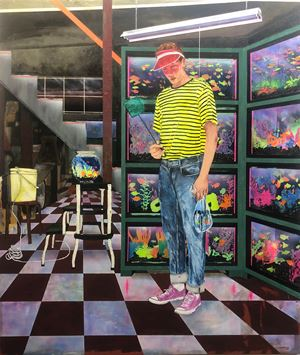 The Glow Fish Enthusiast by Hernan Bas contemporary artwork