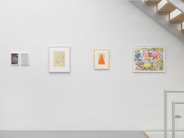 Exhibition view: Group Exhibition, All In One. One Work By Each Gallery Artist, Galerie Eva Presenhuber, Rämistrasse, Zurich (14 November–12 December 2020). Courtesy the artists and Galerie Eva Presenhuber, Zurich / New York. Photo: Stefan Altenburger Photography, Zurich.