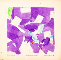 Plum Nellie, November Reason by Robert Reed contemporary artwork works on paper