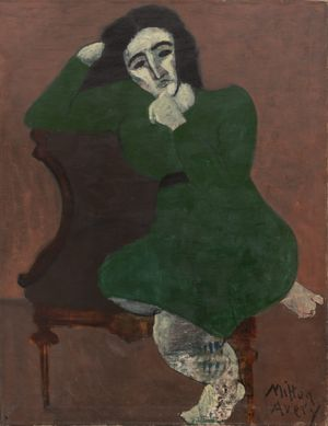 Girl in Green by Milton Avery contemporary artwork painting