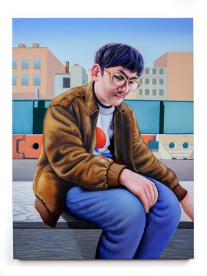 Chinatown Smoke Break by Alannah Farrell contemporary artwork