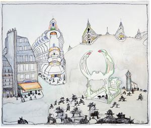 Paris by Saul Steinberg contemporary artwork