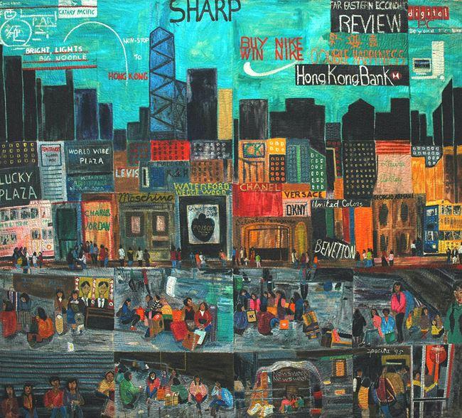 Filipinas in Hong Kong by Pacita Abad contemporary artwork