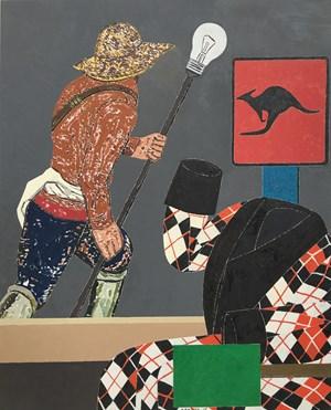 El hombre invisible by Eduardo Arroyo contemporary artwork