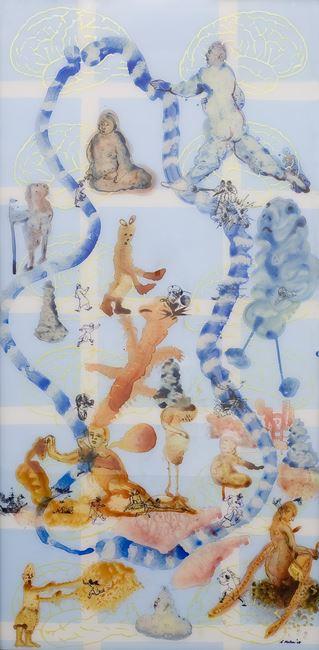 "Stories Retold: Mapping III"" by Nalini Malani contemporary artwork"