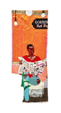 Sunday Morning Pursuits by Billie Zangewa contemporary artwork sculpture, textile