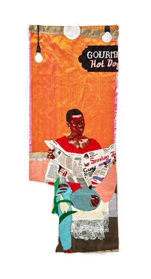 Sunday Morning Pursuits by Billie Zangewa contemporary artwork
