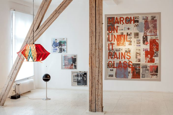 Exhibition view: Tomas Vu & Rirkrit Tiravanija, Green Go Home, Hua International, Berlin (6 December 2020–23 January 2021). Courtesy Hua International. Photo: Timo Ohler.