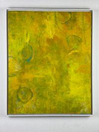 Five Circles in Yellow by Tamihito Yoshikawa contemporary artwork painting