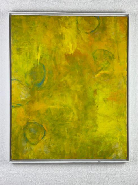 Five Circles in Yellow by Tamihito Yoshikawa contemporary artwork