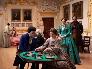 J.P. Ball Salon 1867 (Lessons of The Hour) by Isaac Julien contemporary artwork