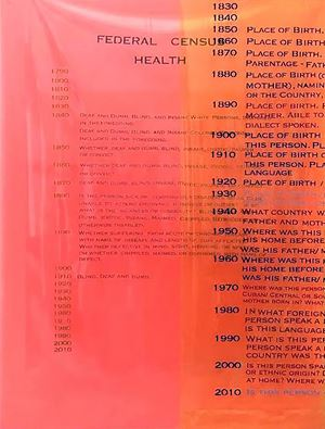 Federal Census Health Visi-guard fluorescent orange by Furen Dai contemporary artwork