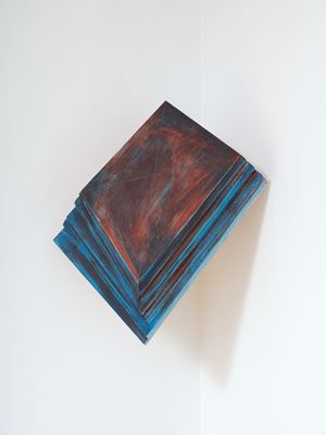 Corner Sculpture (Dark) by James Ross contemporary artwork