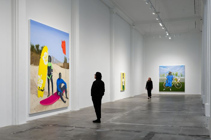 Exhibition view: Amy Sherald, The Great American Fact, Hauser & Wirth, Los Angeles (20 March–6 June 2021). © Amy Sherald. Courtesy the artist and Hauser & Wirth. Photo: Fredrik Nilsen Studio.