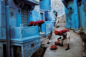 Jodhpur Fruit Vendor, India by Steve McCurry contemporary artwork