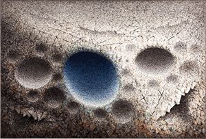 Aggregation 10 - OC036 Blue by Chun Kwang Young contemporary artwork