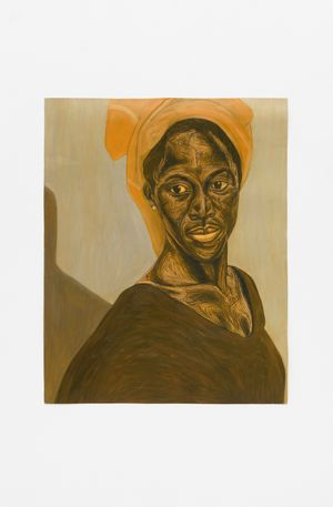 Untitled (Woman II) by Collins Obijiaku contemporary artwork painting, works on paper