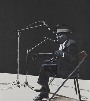 John Lee Hooker by Sam Nhlengethwa contemporary artwork