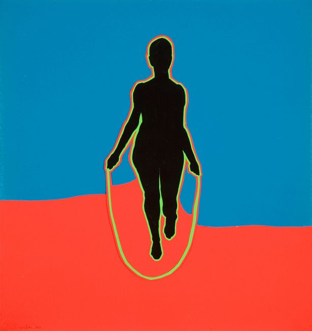Jump Rope Lady by Idelle Weber contemporary artwork